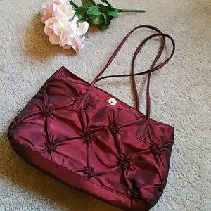 Handbags - Red Quilted Purse
